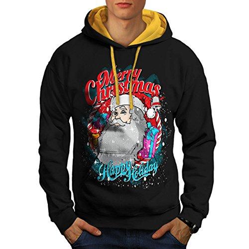Weihnachtsmann Urlaub Weihnachten Herren S Kontrast Kapuzenpullover | Wellcoda