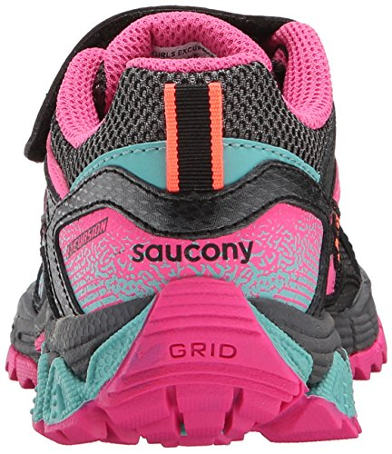Saucony Excursion Alt Closure Sneaker (Little Kid) Black/pink