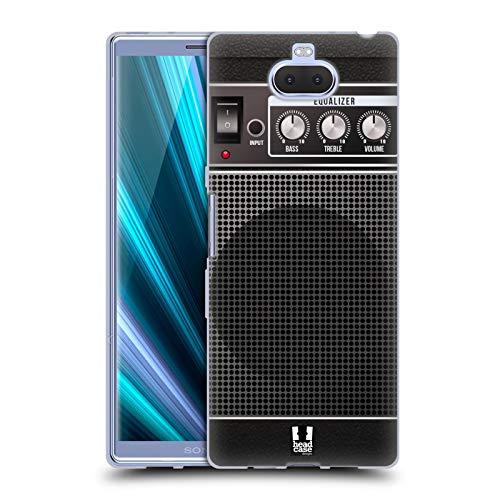 Head Case Designs Schwarz Akustisch Gitarrenverstärker Soft Gel Hülle für Sony Xperia XA3 Ultra / 10 Plus