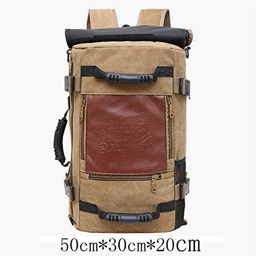 TnXan Large Capacity Men's Backpack Trekking RucksacksTravel Bag Sports Casual Canvas Backpacks for Male Out Door Bags School Bags Pack -
