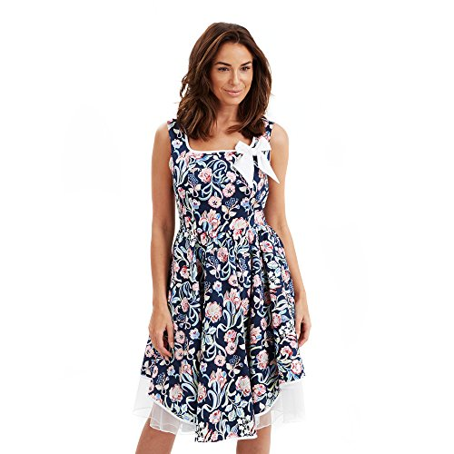 Joe Browns Rockabilly, Robe Femme Bleu (A-Blue Multi)