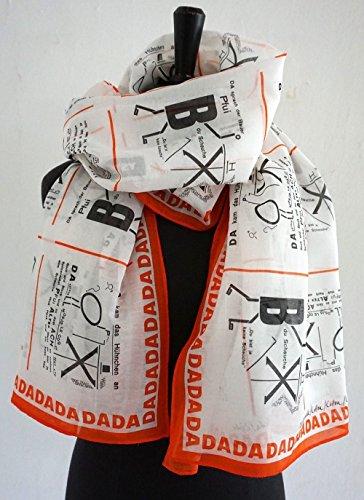 TUCH DADAISMUS Dada, Bauhaus, Merz Kunst, Anna Blume, Surrealismus, Zeichnung, Schrift, Text, Seide, Baumwolle, 1920, 1920er Jahre, 1930