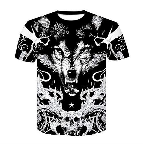 Bären Custom Schwarz T-shirt (Männer Frühling Sommer Männer T-Shirts 3D Gedruckt Tier t-Shirt Kurzarm Lustige Design Casual Tops Tees Männlich,3D Digitaldruck - A5 schwarz L)