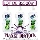 MIR - Liquide Vaisselle - Secret de Nature Thé Vert - Lot de 3x500ml