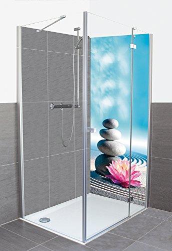 ARTland Maßgeschneiderte Alu-Verbund Duschrückwand - Motiv und Größe wählbar - Duschwand jetzt konfigurieren - Lilie - Maße B 70-170cm H: 170-250cm - Kein Schrauben kein Bohren (Dusche-badewanne-wand-platten)