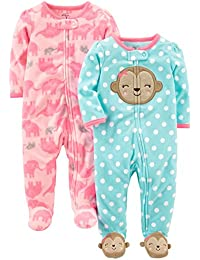 Simple Joys by Carter's Baby-Girl's 2-Pack Fleece Footed Sleep and Play