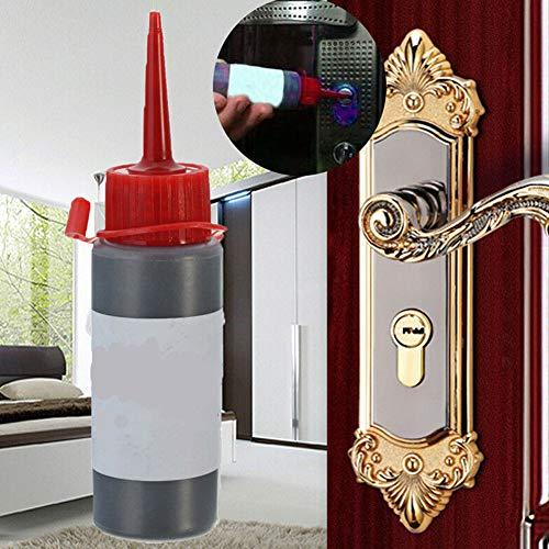 FLOX 2PCS 60ml Cerrajería Suministros Candado Grafito Polvo Clave Cilindro Cerradura Lubricante Puerta