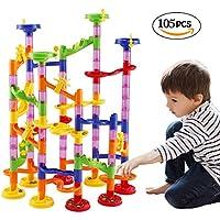 WloveTravel Marble Runs Building Blocks 105 Pieces Construction Toys Set Games for Kids
