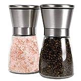 Uzinb Manuale 2PCS acciaio inossidabile Vetro Pepe Sale Mulino Bianco Shaker Spice Grinder Cucina Fornitore