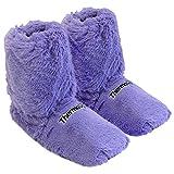 Thermo Sox Original Supersoft Hoch Hausschuhe für Ofen & Mikrowelle, Farbe:Flieder, Schuhgröße:36/40 EU