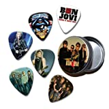 Bon Jovi Set of 6 Loose Guitar Médiators in Tin ( Collection A )