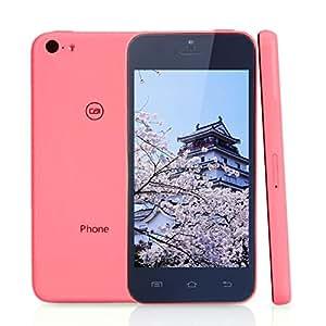 Xiaocai X800 MTK6572 Dual Core 1.3GHz Android4.2 OS 4.0 \ téléphone portable à écran IPS Smart Phone Black Rose Rouge ( norme européenne )