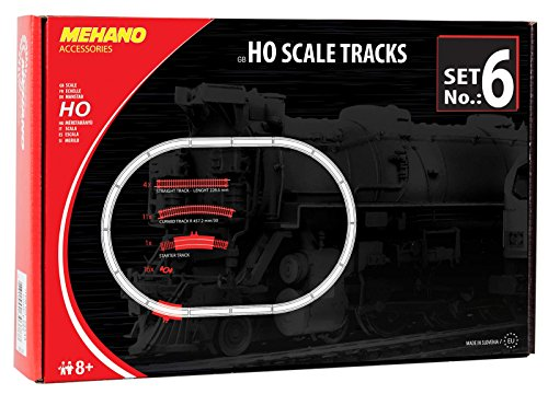 Mehano F106 Gleis-Ergänzungspackung, 32 Stück