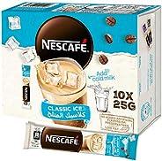 خليط القهوة المثلجة الكلاسيكية من نسكافيه، وزن الكيس 25 غرام (10 اكياس)