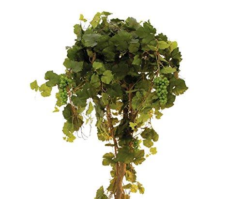 Rebstock mit Trauben, Echtstamm, Höhe 180cm, mit Zementfuß – Kunstpflanze Kunstbaum künstliche Bäume Kunstbäume Gummibaum Kunstoffpflanzen Dekopflanzen Textilpflanzen