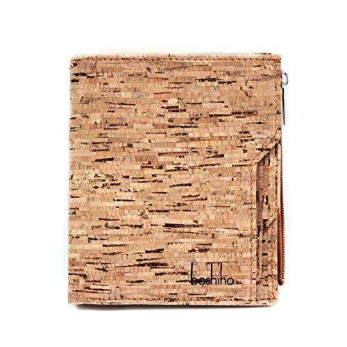 Boshiho Mens Cork Wallet - Slim Design Kredit-ID-Kartenhalter Bifold Geldbörse Wallet (Kork 2) -