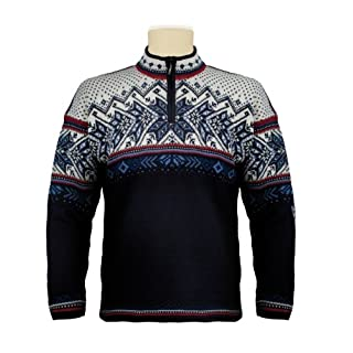 Dale of Norway Men's Vail Sweater, Blue, Large
