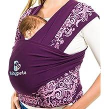 Lleva Tu Niño de Manera Segura & Inteligente – Fular de Babypeta – Fular Elástico Más Suave de Puro Algodón Bio – Regalo para bebés – Portabebé – El Recién Nacido Crece
