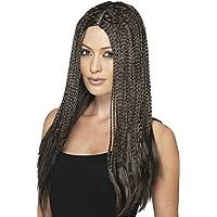 Smiffy 's–90de la mujer de color marrón trenzado peluca, un tamaño, 45610