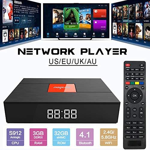 Streaming Media Player Magicsee T2 S2 S912 3G + 32G TV Box Android Set-Top-Box HD Netzwerk-Player 4K HDR Smart TV Box für Heimkino Spiele spielen