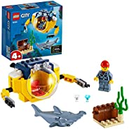 LEGO City Oceans Ocean Mini-Submarine 60263 building set, easy to build elements, Toy for Boys and Girls 4+ ye