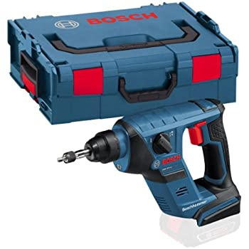 Bosch Professional GBH 18 V-LI Compact Akku-Bohrhammer, Schlagenergie 1 J, 1,9kg, Solo Version, L-BOXX, 1 Stück, 0611905304