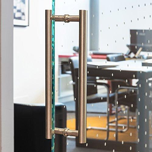 51jmKrBMP%2BL - Manija de Puerta Tirador de 350 mm de Acero Inoxidable Satinado Manija Puerta de Cristal