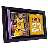 SGH SERVICES Neuf encadrée Lebron James Los Angeles Lakers Lebron Photo dédicacée encadrée NBA MDF Cadre Photo Print