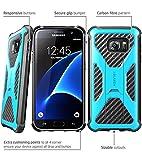 i-Blason Samsung Galaxy S7 Edge (2016 Release) Hülle Prime Serie - 2-Schicht Schutzhülle/Tasche / Gehäuse/Zubehör mit Standhalter, schwenkbaren Gürtelschnalle mit Locking-Mechanismus (Blau)