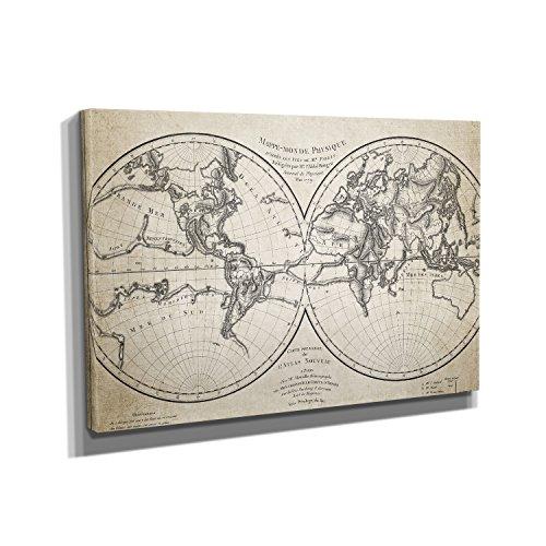 vintage-weltkarte-kunstdruck-auf-leinwand-20x30-cm-zum-verschnern-ihrer-wohnung-verschiedene-formate