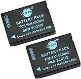 DSTE® 2pcs DMW-BCG10 Rechargeable Li-ion Battery for Panasonic DMW-BCG10E, DMW-BCG10PP and Panasonic Lumix DMC-ZS1, DMC-ZS3, DMC-ZS5, DMC-ZS6, DMC-ZS7, DMC-ZS8, DMC-ZS9, DMC-ZS10, DMC-ZS15, DMC-ZS19, DMC-ZS20, DMC-ZS25, DMC-ZX1, DMC-ZX3,DMC-3D1, DMC-SZ8, DMC-TZ6, DMC-TZ7, DMC-TZ8, DMC-TZ10, DMC-TZ18, DMC-TZ19, DMC-TZ20, DMC-TZ25, DMC-TZ30, DMC-TZ35, DMC-ZR1, DMC-ZR3