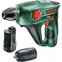 Bosch 060398400E Uneo Perforateur sans fil technologie Syneon avec 2 Batteries/Adaptateur pour Forets 12 V 2,5 Ah