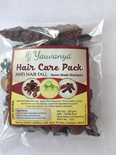 Yauvanya Make at home Shampoo DIY hair care kit (Anti Hairfall, sulphate & Paraben free, 100% natural, chemical free) - 3X100 gms