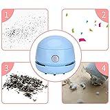 Nishci Tischstaubsauger-Tischstaubsauger - Mini-Tischstaubsauger Lithium-Batterie-Aufladeart Top mit Netzkabel Aufbewahrungsbox - 4