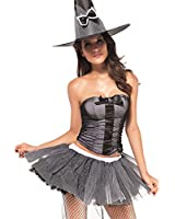 Halloween Witch Ladies Fancy Dress Outfit Magic Spell Costume