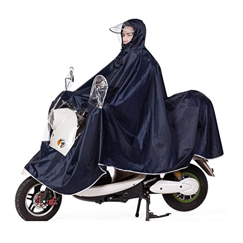 Große Damen Herren Regenponcho Regenumhang Motorad Regenmantel Regenjacke mit Reflektierende...