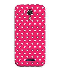 FUSON Designer Back Case Cover for Micromax Canvas Magnus A117 :: Micromax A117 Canvas Magnus (Pink Love Pattern Crazy Fine Arts)