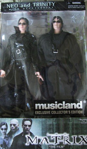 THE MATRIX NEO and TRINITY with accessories by Musicland Exclusive Collectors Edition (Neo Matrix Trinity)