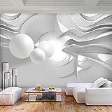 decomonkey | Fototapete 3d Effekt Abstrakt 400x280 cm XL | Tapete | Wandbild | Wandbild | Bild | Fototapete | Tapeten | Wandtapete | Wanddeko | Wandtapete | Modern Weiß Kugeln | FOA0102a84XL