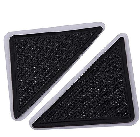 Amcool 4 Stück Teppich-Anti-Rutsch-Aufkleber Carpet Anti Slip Pad