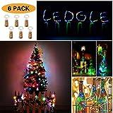 LEDGLE 6 Stück Flaschenlicht Lichterketten Batterie 75cm&15LEDs Kupfer Drahtlichterkette bunt Weinflaschen Sternenlicht für Weihnachten Hochzeit Party und Flasche DIY Batteries enthalten