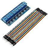 Anpro Relay Module 8-Kanäle RelaisModul Brett 5V + Male Female Jumper Wire Kabel Steckbrücken Drahtbrücken für Arduino Raspberry Pi 3 B+, Blau