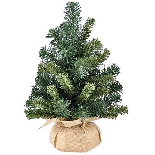 SIDCO Künstlicher Weihnachtsbaum Schreibtisch Mini Baum Deko Christbaum Tisch 40 cm