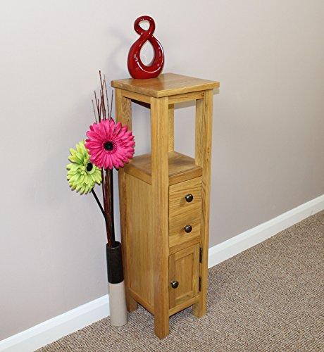 Oak Corner Cabinet Cupboard Bathroom Storage Unit Table Plantstand