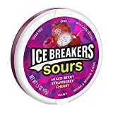 Ice Breakers Sours Gum Sugar Free Berry Dose, 8er Pack (8 x 42 g)