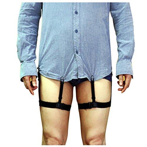 280c6a7d3cd iiniim Men s Adjustable Uniform Shirt Stays Suspender Garter Belt with Non- slip Locking Clamps Unisex