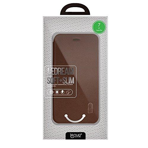 GHC Cases & Covers, Für iPhone 7 PU + PC Litchi Textur Horizontale Flip Leder Tasche mit Kartensteckplätzen ( Color : Brown ) Brown