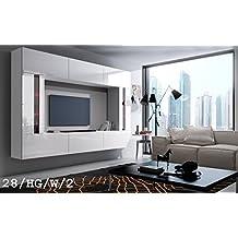 FUTURE 28 Moderne Wohnwand Exklusive Mediambel TV Schrank Schrankwand