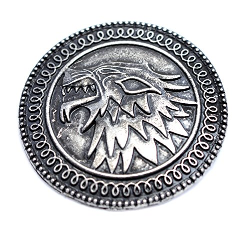 Game of Thrones Stark Brosche House Of Stark Lied von Eis und Feuer Pin Das Schild