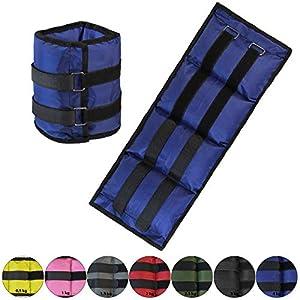 BB SPORT Gewichtsmanschetten 2 x 0,5-4 kg Laufgewichte für Fuß- und Handgelenke in verschiedenen Farben und Gewichten